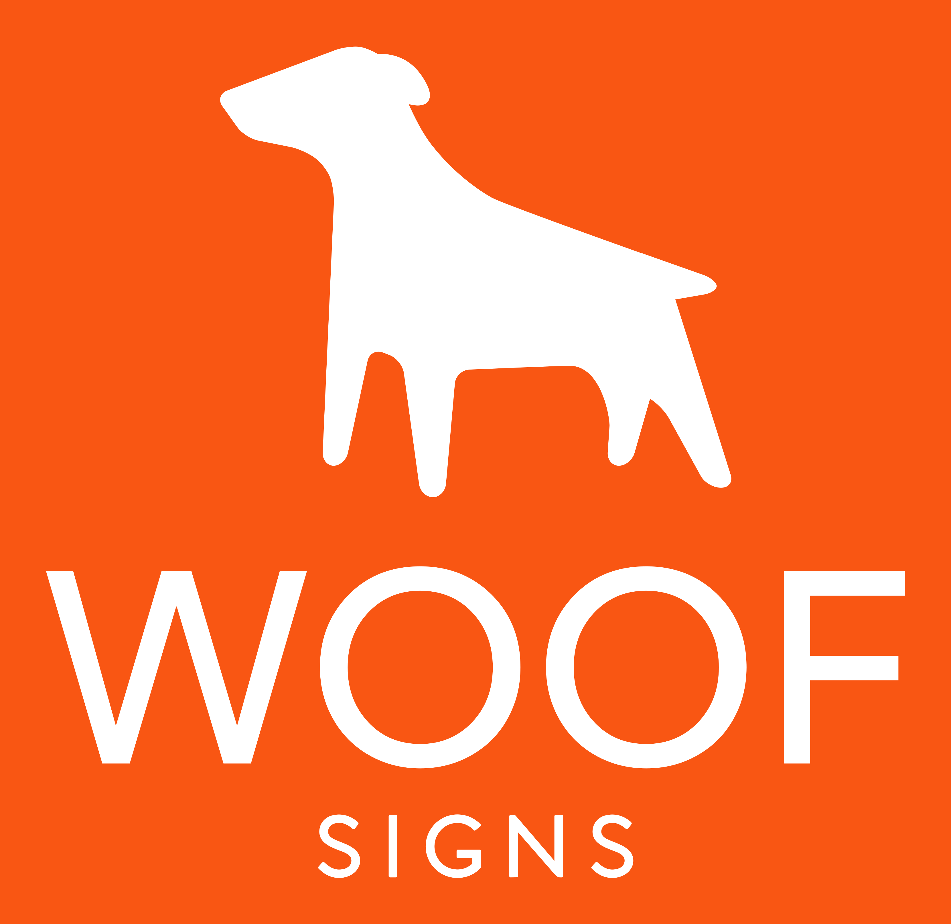 Woof Signs